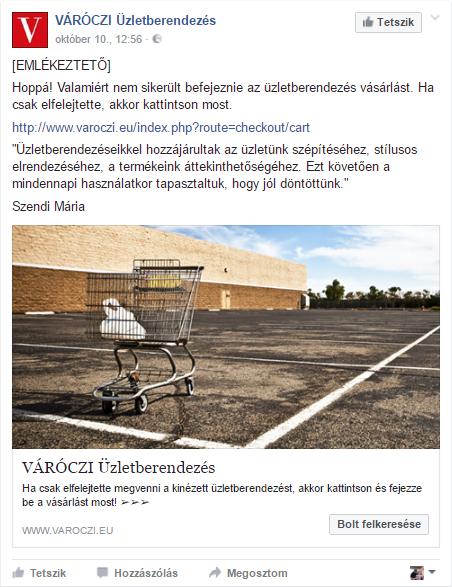 Elhagyott kosár - webshop remarketing hirdetés