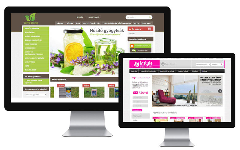 ShopRenter webshop design